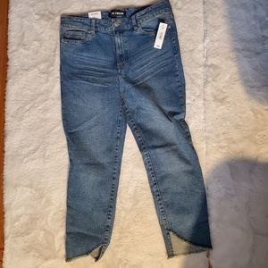 3/$12 Joe Fresh Cropped boyfriend jeans sz 28